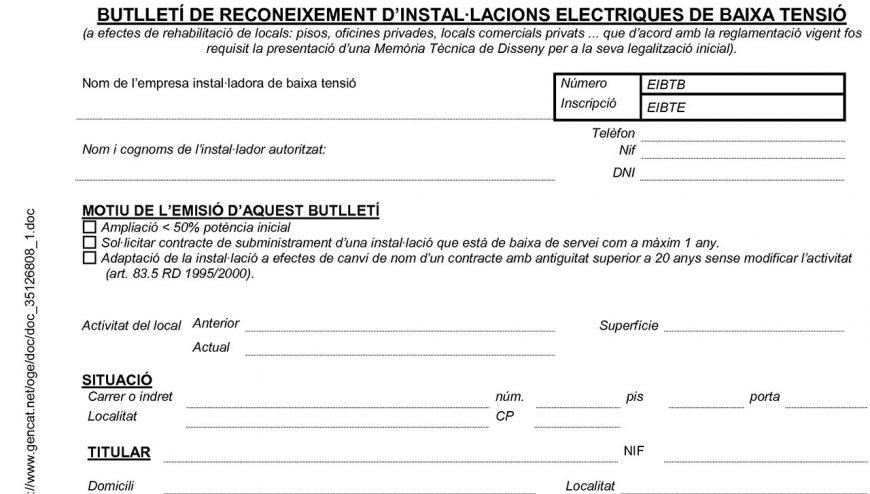 boletin de reconocimiento de instalaciones electricas