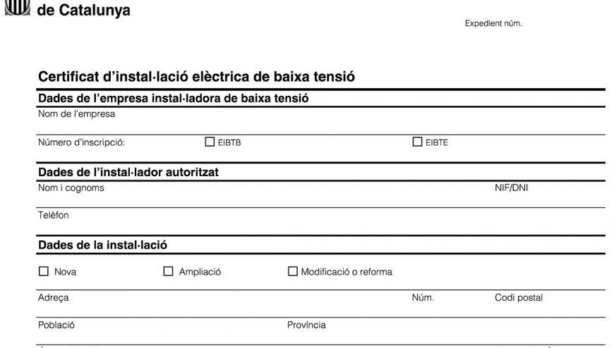 certificado de instalaciones electricas